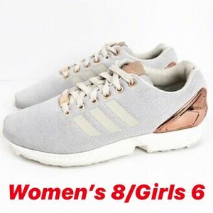 Adidas torsion sneakers light grey and rose gold